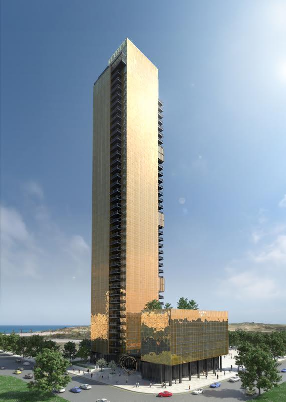 Продаются последние элитные квартиры в 48 этажном небоскребе в Бат Яме.